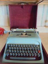 vintage Olivetti-Underwood portable manual typewriter w/case-very good