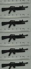 Gi Joe lot of 5 razor trooper storm shadow M4 submachine gun accessories #70
