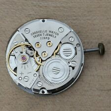 Vintage CARAVELLE Cal 11DPD Mechanical Watch Movement Date Good Balance Parts