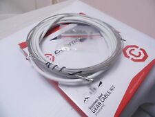 White Clarks Stainless Steel Mtb Road Bike Gear Cable Kit