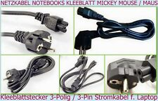 5 x Network Power cable Mickey Mouse Cloverleaf Plug Notebook 3-pole Laptop