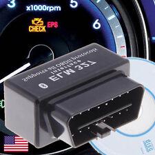 Mini Black OBD2 OBDII Wireless Bluetooth Car Diagnostic Scan Tool Code Reader 
