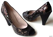 new MARC JACOBS black sequins open-toe heels shoes 36 US 6 - very dressy