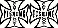 East Coast Fishing,, Tacklebox, Boat Sticker Decal Set of 2