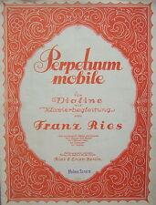 Franz Ries: perpetuum mobile, violín u. piano, partitura cuaderno, Gebr.