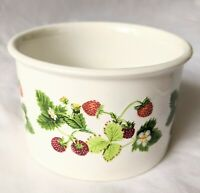 PORTMEIRION Summer Strawberries small sugar bowl/dish 8cm, dishwasher proof,
