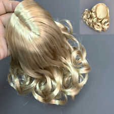 American Girl Caroline Blond Curly Wig Replacement Parts Customs For 18'' Doll