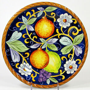 "Tabletops Unlimited VILLA BELLAGIO 8.5"" Salad Plate Fruit Floral Embossed Cord"