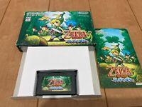 Gameboy Advance The Legend of Zelda The Minish Cap with Box,Manual Japan zel5