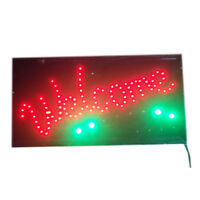 "LED SIGN Animated ""WELCOME"" Store Shop Restaurant Sign with Haning Chain"
