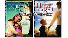 2 Pack - Miracles from Heaven & Heaven Is For  Real DVD NEW 2016 Eugenio Derbez