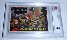 1962 Mars Attacks Blast off for Mars Card #46 BVG 8 Like PSA BGS Alien Horror