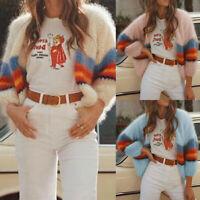 Damen Winter Strickjacke Mantel Pullover Gestrickt Warme Jacke Sweater Jumper 38