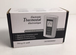 aube TH114-A-120S Line Volt Heating Manual Electronic Thermostat White