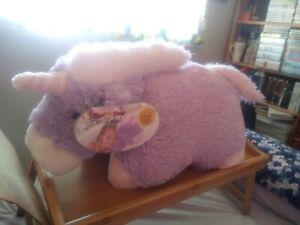 purple/white unicorn pillow pet