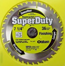 "Oldham 7-1/4"" x 36 Tooth Carbide Saw Blade 725C436"