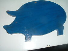 Vintage Primitive Hand Carved Small Wood Piggy Cutting Board or wall decor