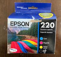Epson DURABrite Ultra 220 Ink Cartridges - Black/Cyan/Magenta/Yellow, 4 Pack NEW