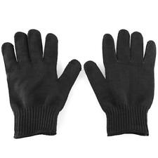 Black Stainless Steel Wire Safety Works Anti-Slash Cut Resistance Glove New #DH