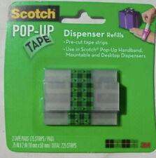 3 x 3M Scotch Pop-Up Handband hands Free tape Dispenser Refills, 225 Strips