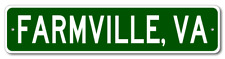 FARMVILLE, VIRGINIA  City Limit Sign - Aluminum