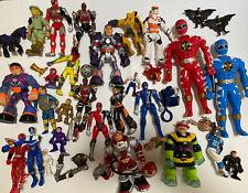 Action Figures Power Rangers DC Marvel Etc Mattel Hasbro Bandai Mixed Lot