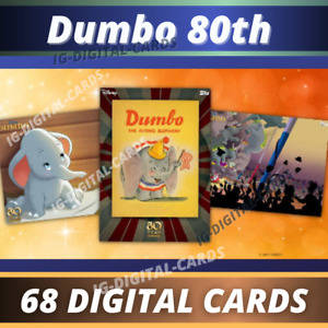 Dumbo 80th Anniversary Collection Disney Topps Collect 2021 [ 68 DIGITAL CARDS ]