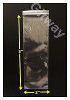"2"" x 8"" Reclosable Resealable Ziplock Zip Lock Bag Poly Plastic 2x8 Bags 2 ML"