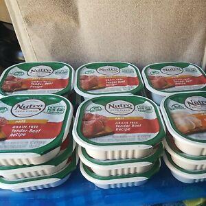 Lot of 18 Nutro Grain Free Tender Beef Adult Pate Dog Food, 3.5 Oz.& 1 Chicken