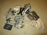 lot of parts and hardware bmx road race vintage bicycle bike schwinn shimano