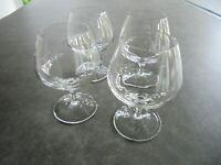 "Set of 4 Crystal Brandy Glasses High Quality Medium Size  5 3/8"" Tall"