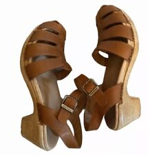 Dansko Milly Brown Leather Sandal Full grain 41