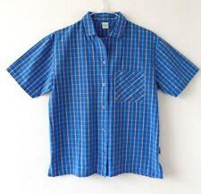 Palmers Womens Pyjama Pajamas Top Shirt Short Sleeve Blue Check Size S 10 Cotton