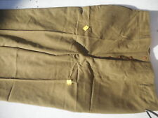 WW2 Button Fly Officers Trousers Size 38x37 New With Cutter Tags 100% wool