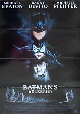 BATMANS RÜCKKEHR Filmplakat Poster mit Tim Burton, Michael Keaton, M. Pfeiffer