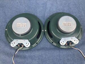 altec lansing Green Full Range Coaxial 409-8D vtg 409 8D speakers Pair original