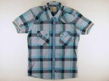 KS741 ABERCROMBIE & FITCH camisa de cuadros de verano talla L, ¡excelente...