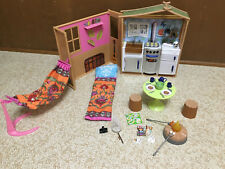 Barbie Doll Liv My Nature Maple Lodge House Playset Fold Up Kitchen Furniture
