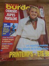MAGAZINE BURDA CHEMISIERS PANTALONS JUPES LOOK BRANCHE/MARIN PRINTEMPS ETE  1998