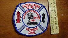 SEYMOUR CONNECTICUT FIRE DEPARTMENT CITIZENS ENGINE CO #2   PATCH BX 12 #21