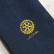 Rotary International rabilarga Club Asociación Corbata Vintage Década de 1970 década de 1980 Azul Marino