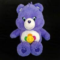 "HARMONY BEAR Care Bear 5/"" clip New With Tags *2003* RARE *RETIRED PURPLE"