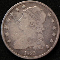 1835 CAPPED BUST QUARTER, TOUGH EARLY AMERICAN TYPE COIN, GREAT DETAIL!