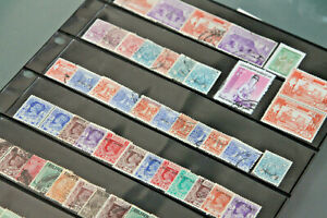 BURMA - MINT AND USED COLLECTION IN DOUBLE SIDED STOCKSHEET