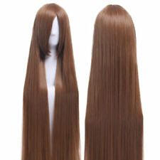 80cm Long Straight Light Brown Smooth Cosplay Costume Wig+Free Cap+Free shipping