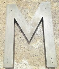 Commercial Building Indoor Outdoor Sign Letter M Cast Aluminum 30 Inches
