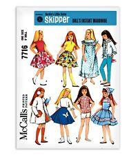 Barbie Doll Skipper Sewing Pattern McCalls 7716 Coat Skirt Dress Shorts Top Pant