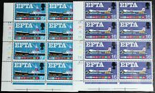 GB – 1967 EFTA - Cylinder Blocks of 8 – UM (MNH) (R6)
