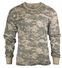 Rothco Long Sleeve Shirt T-Shirt ACU Digital Camouflage Camo Men's L NWT