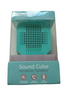 HyperGear Sound Cube Bluetooth Wireless Speaker With Build-in Mic Blue